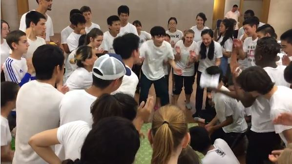 Playing Yute during the Hyojeong Workshop in 2016