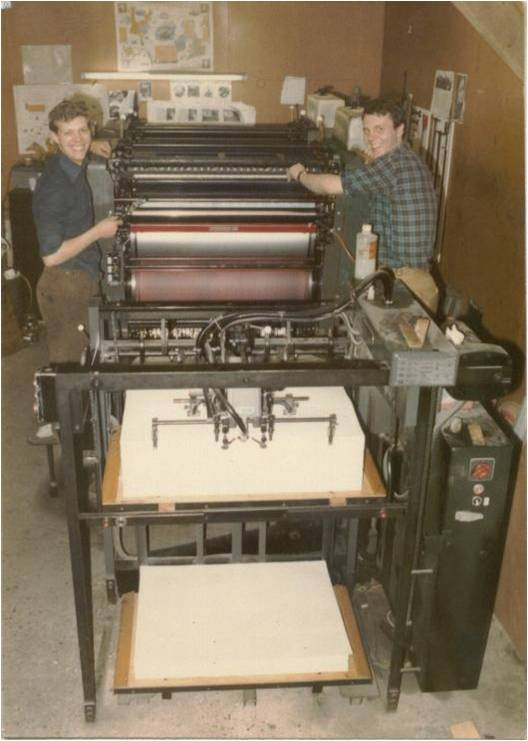 The printing shop at Rowlane farmhouse